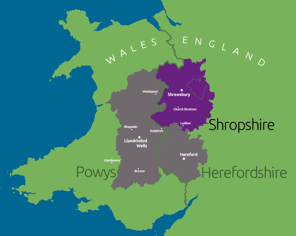 Tours map - Shropshire - TriCounty Tours
